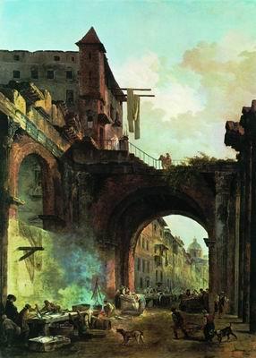 Портик Октавиана в Риме. 1770-е