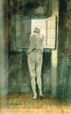Гёте у окна своей римской квартиры на Корсо. 1787