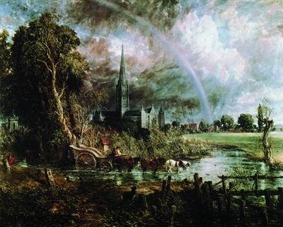 Собор в Солсбери со стороны луга. 1831