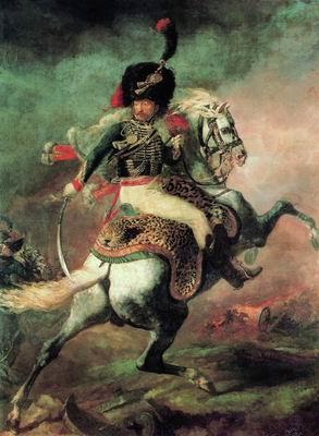 Офицер конных егерей императорской гвардии, идущий в атаку. 1812