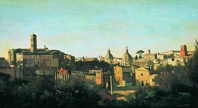 Вид на Римский форум от садов Фарнезе. 1826