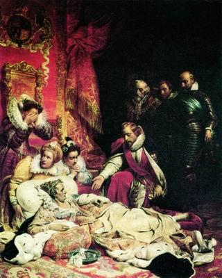 Смерть Елизаветы, королевы Англии, в 1603 году. 1828