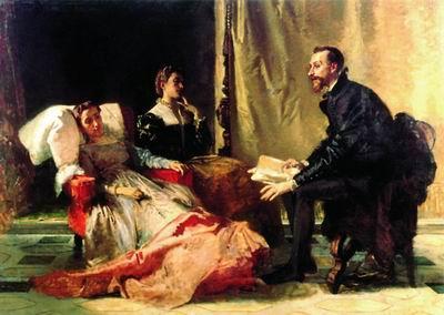 Тассо читает поэму двум Элеонорам. 1865