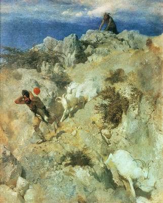 Пан, пугающий пастуха. 1859