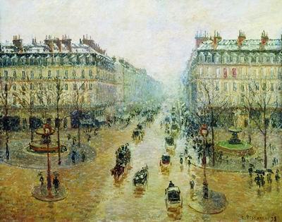 Оперный проезд в Париже. Эффект снега. Утро. 1898
