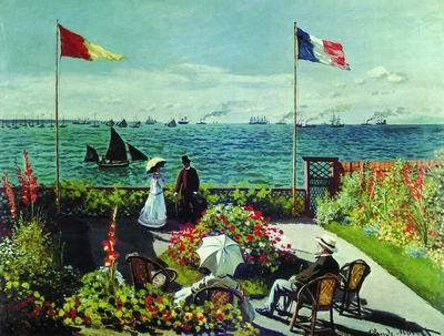 Терраса на берегу моря в Сент-Адрессе. 1867