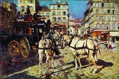 Омнибус с Пляс Пигаль в Париже. 1882