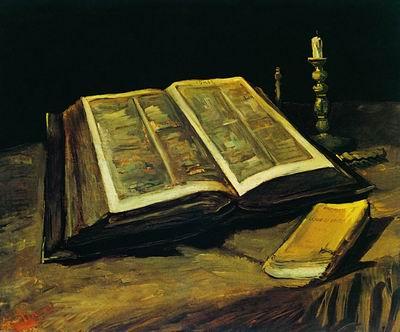 Натюрморт с раскрытой Библией. 1885