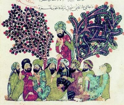 Литературное собрание в саду близ Багдада