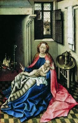 Мадонна с Младенцем у камина. Створка диптиха