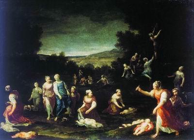 Нимфы, обезоруживающие амуров. 1690-е