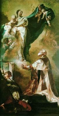 Явление Мадонны Святому Филиппо Нери. 1725—1727