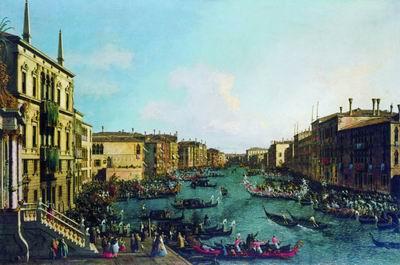 Регата на Большом канале. После 1735