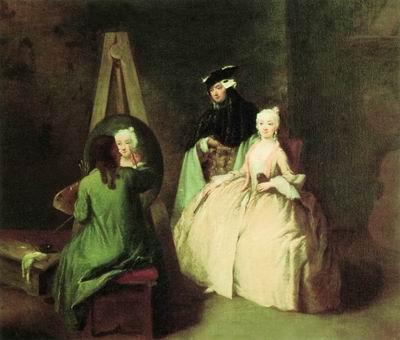 Художник в мастерской. Ок. 1750
