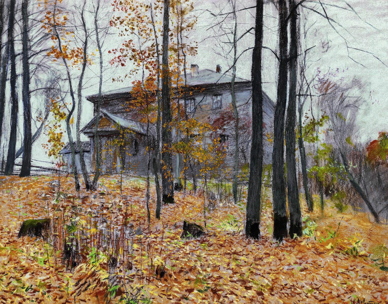Левитан И.. Осень. Усадьба. 1894