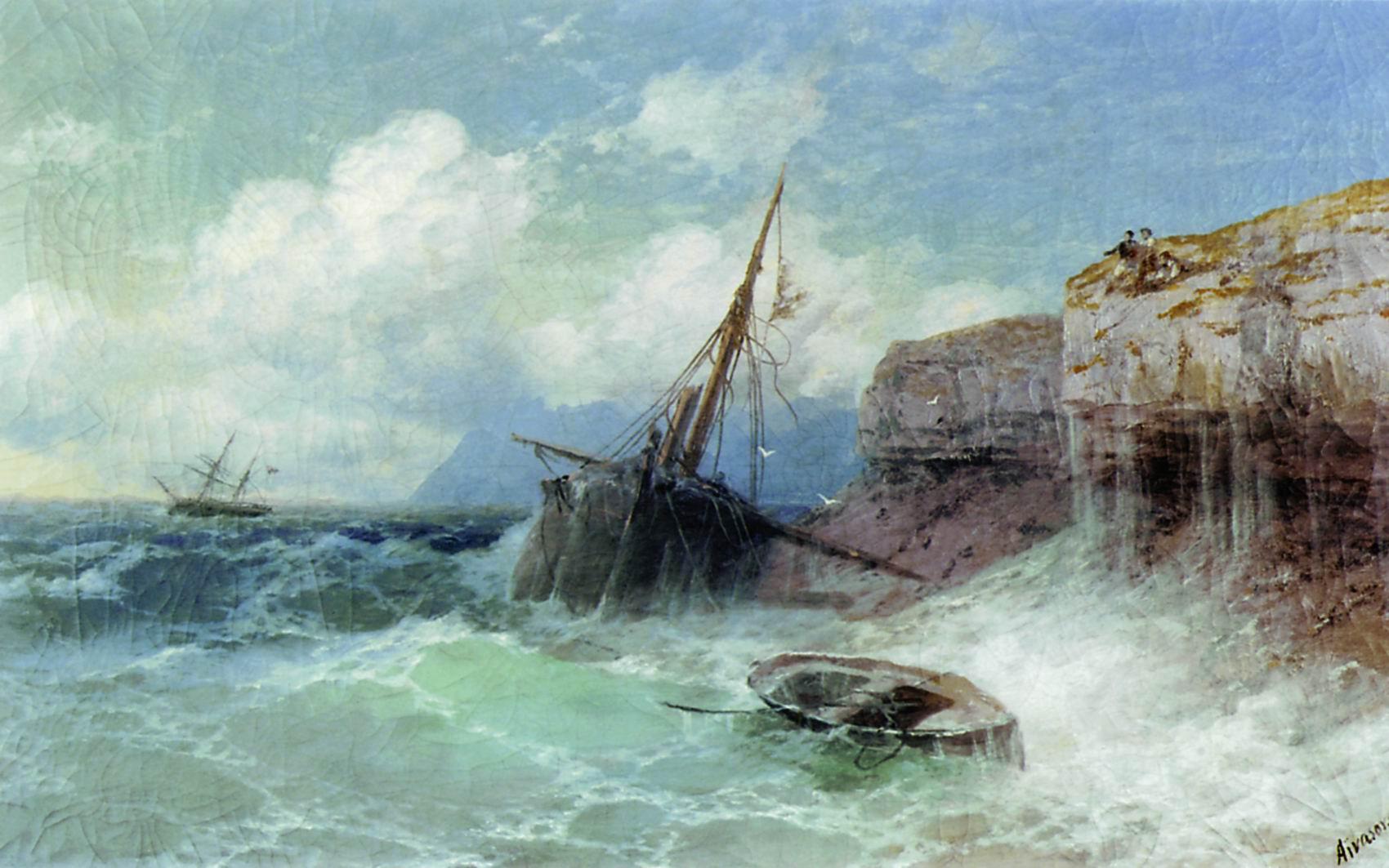 Айвазовский. Буря на море. 1880