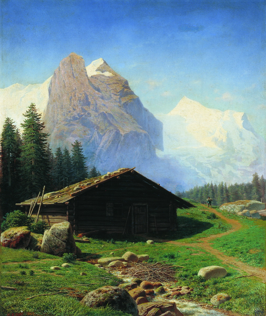 Клодт М.К.. Швейцарский вид. 1869