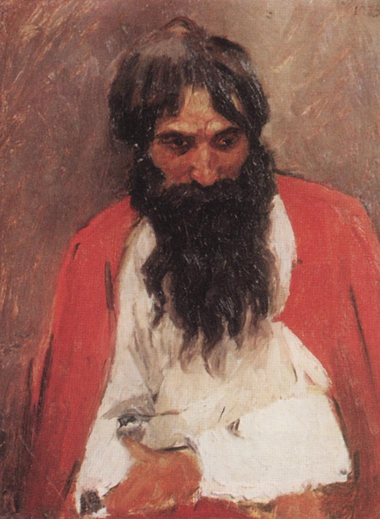 Суриков. Чернобородый стрелец. 1879