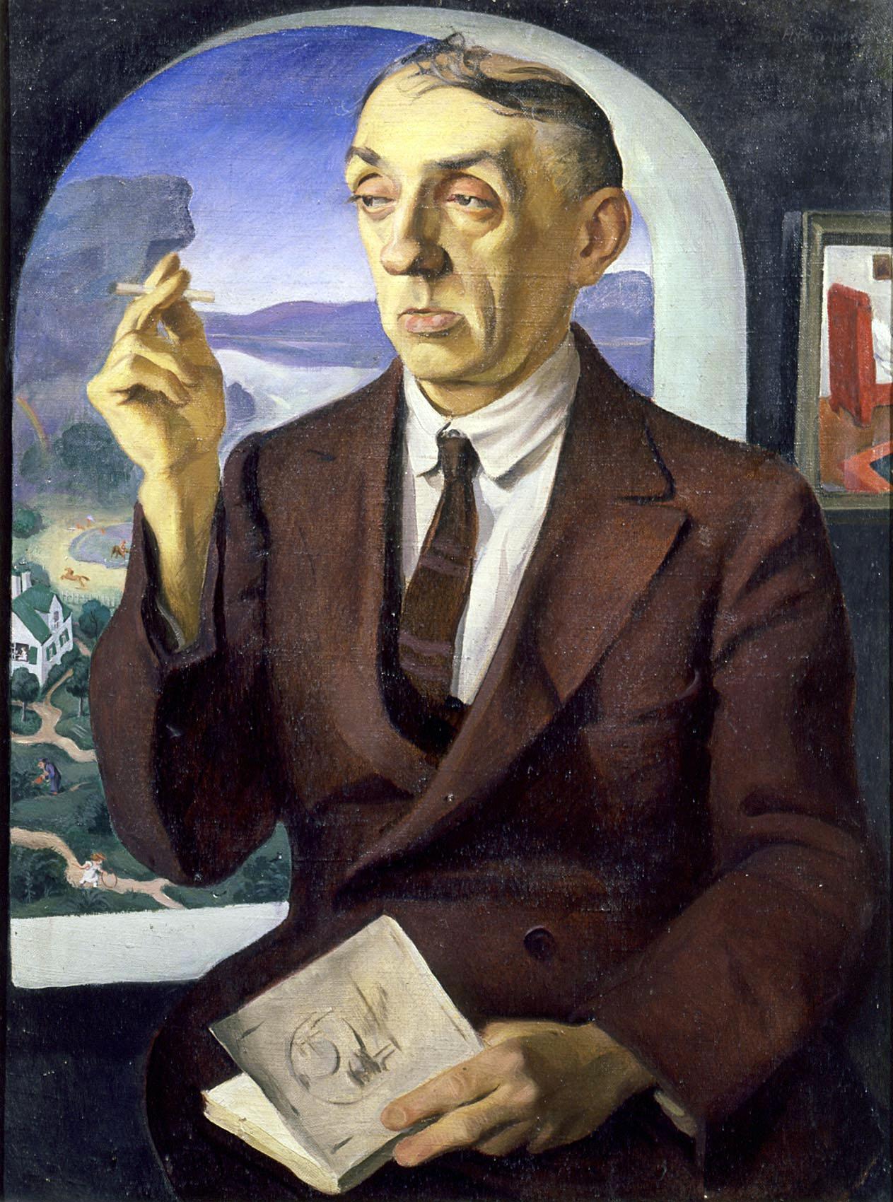 Радлов. Портрет М.А. Кузмина. 1926