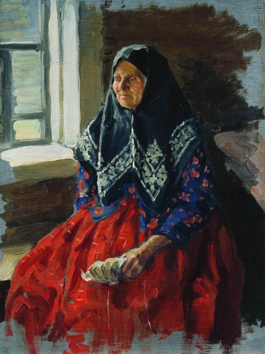 Куликов. Старушка из Нежиловки. 1898