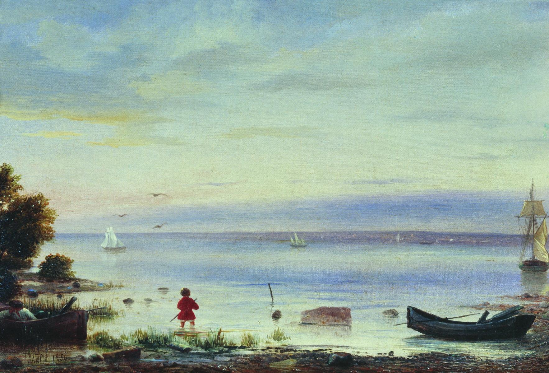 Лагорио. Морской пейзаж. 1856
