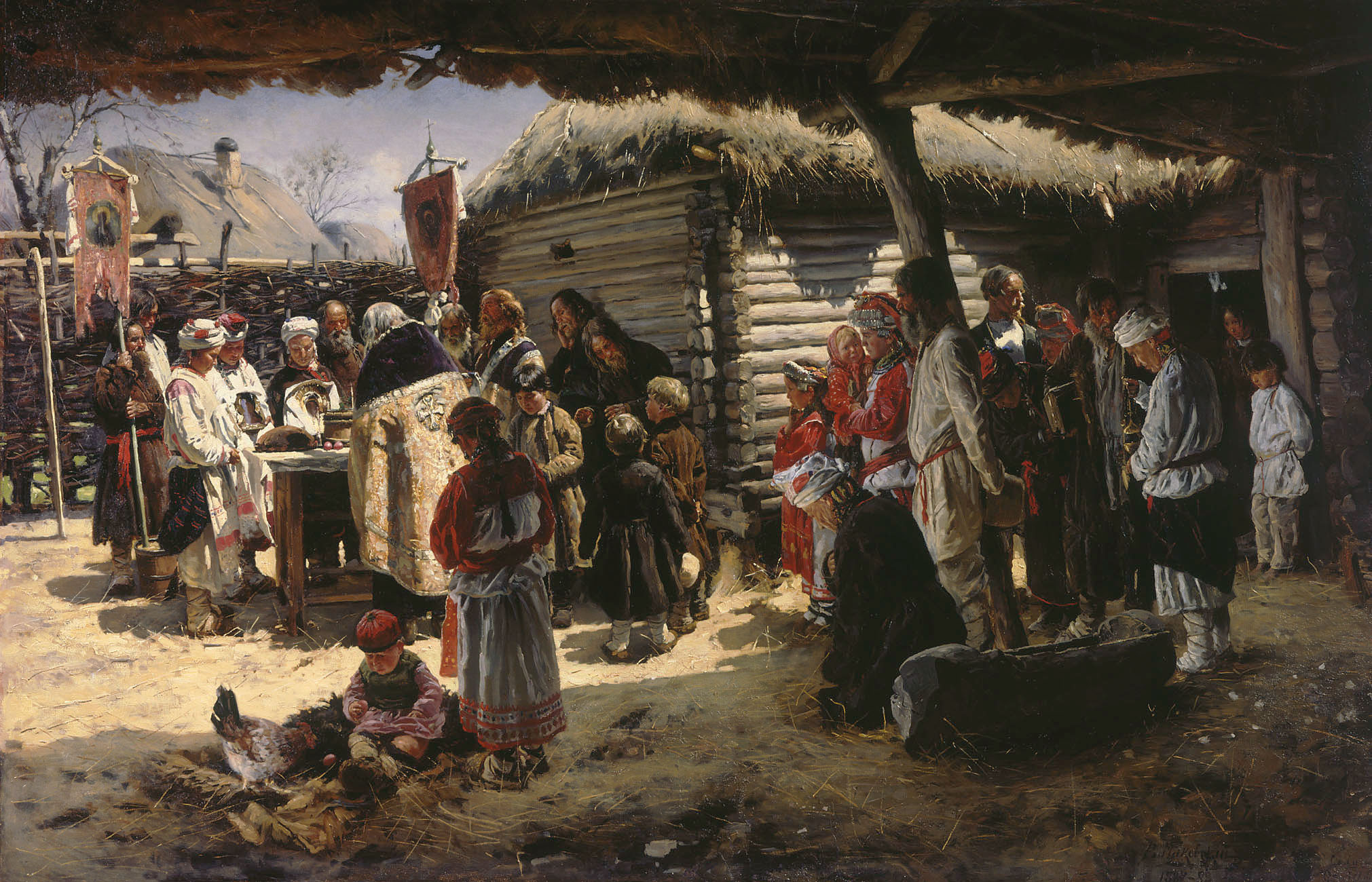 Маковский В.. Молебен на Пасху. 1887-1888