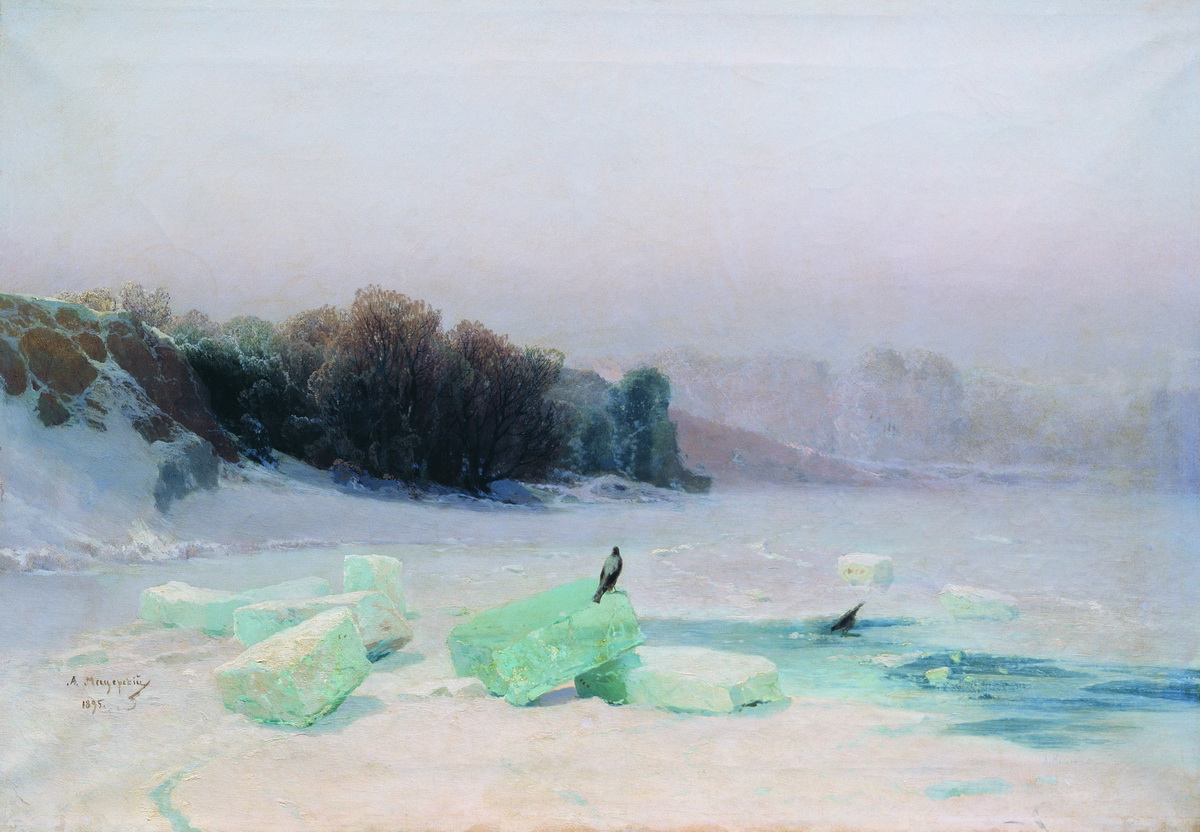 Мещерский. Заготовка льда. 1895