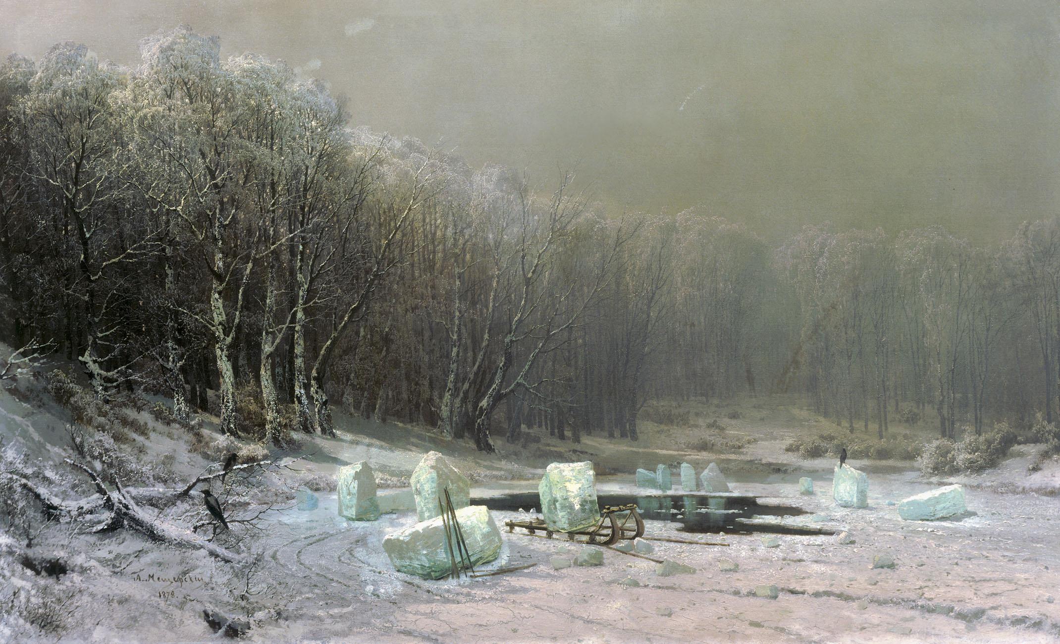Мещерский. Зима. Ледокол. 1878