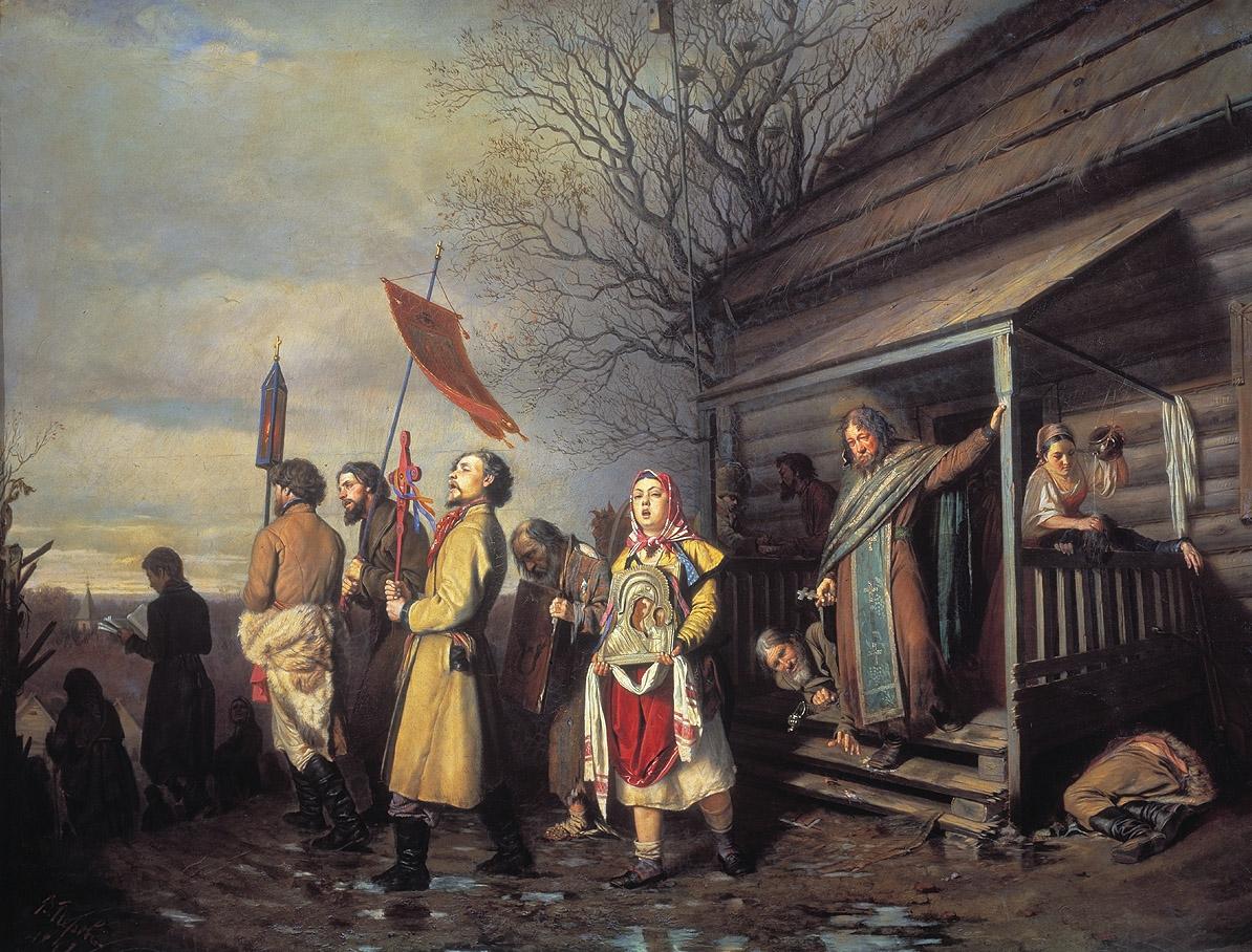 Перов. Сельский крестный ход на Пасхе. 1861