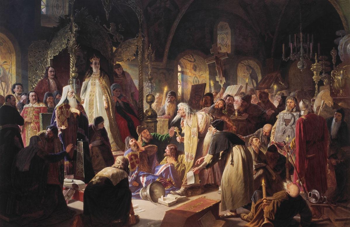 Перов. Никита Пустосвят. Спор о вере. 1880-1881