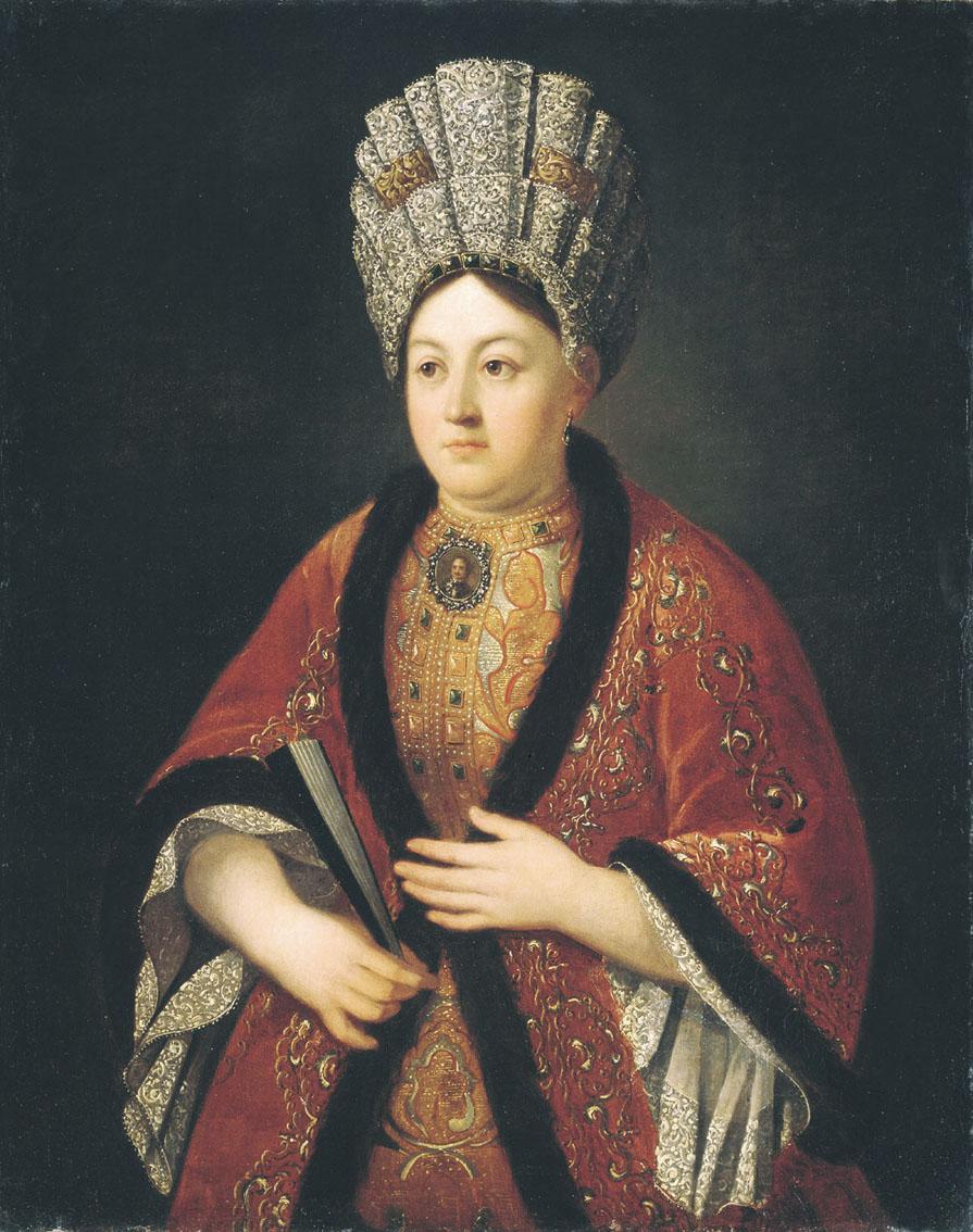 Никитин Р.. Портрет Марии Яковлевны Строгановой. 1721-1724