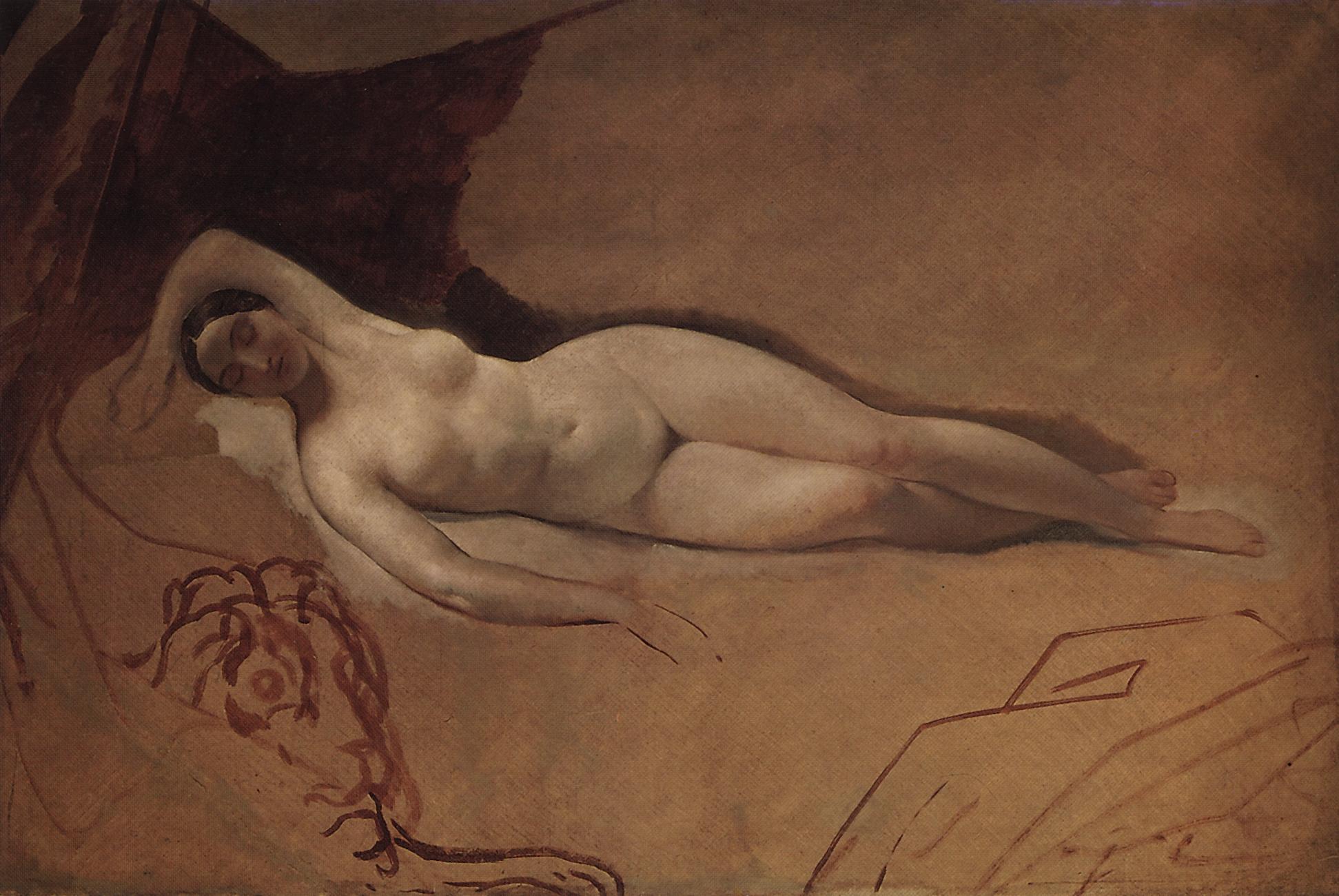 Брюллов К.. Спящая Юнона. 1840-е