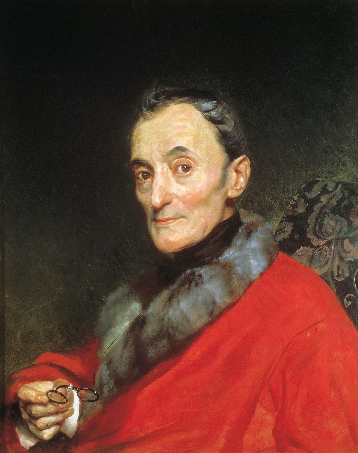 Брюллов К.. Портрет археолога Микеланджело Ланчи. 1851