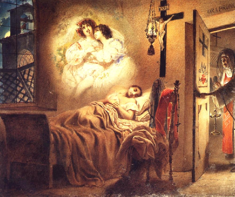 Брюллов К.. Сон монашенки. 1831