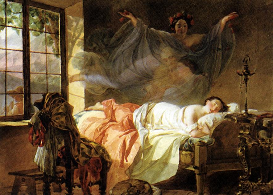Брюллов К.. Сон молодой девушки перед рассветом. 1830-1833