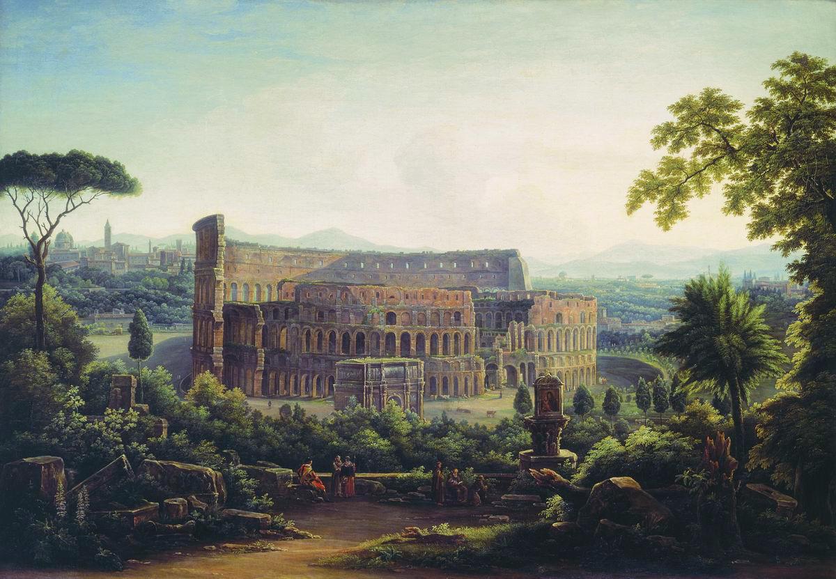 Матвеев Ф.. Вид Рима. Колизей. 1816