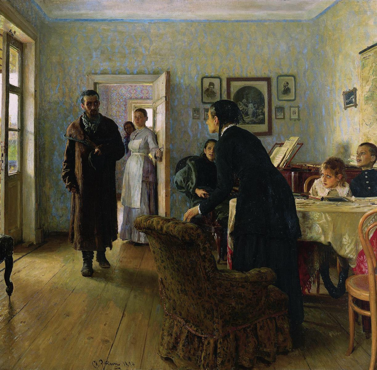 Репин И.. Не ждали. 1884-1888