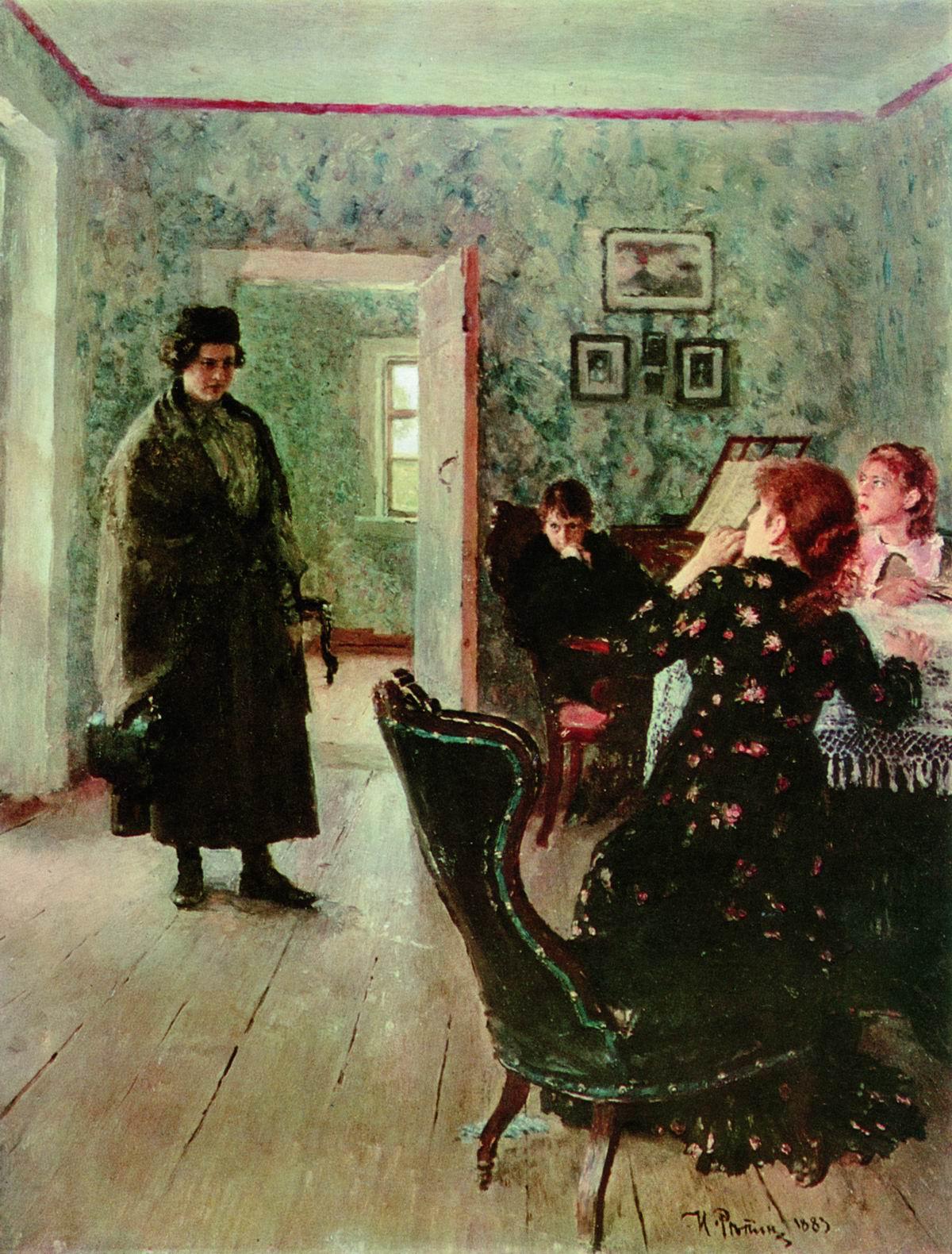 Репин И.. Не ждали. 1883-1898