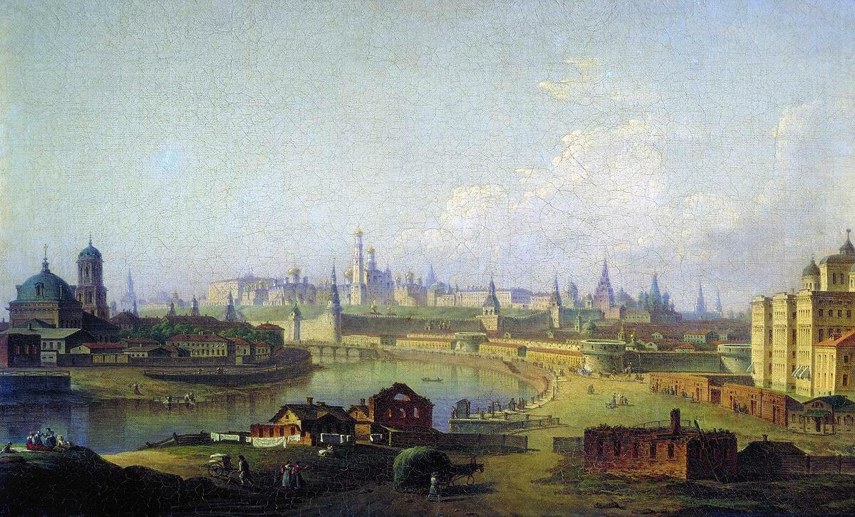 Воробьев М.. Вид Московского Кремля (со стороны Устьинского моста). 1818