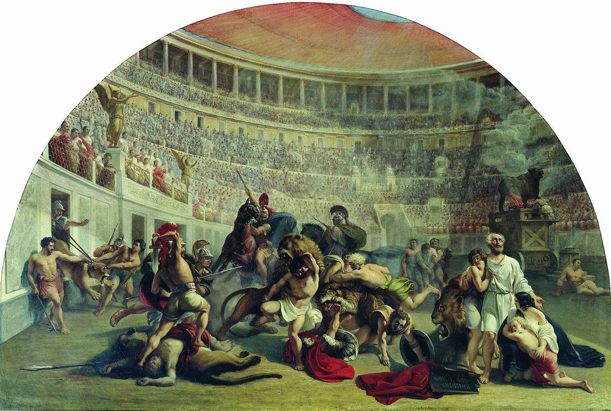 Марков. Евстафий Плакида в Колизее. 1836