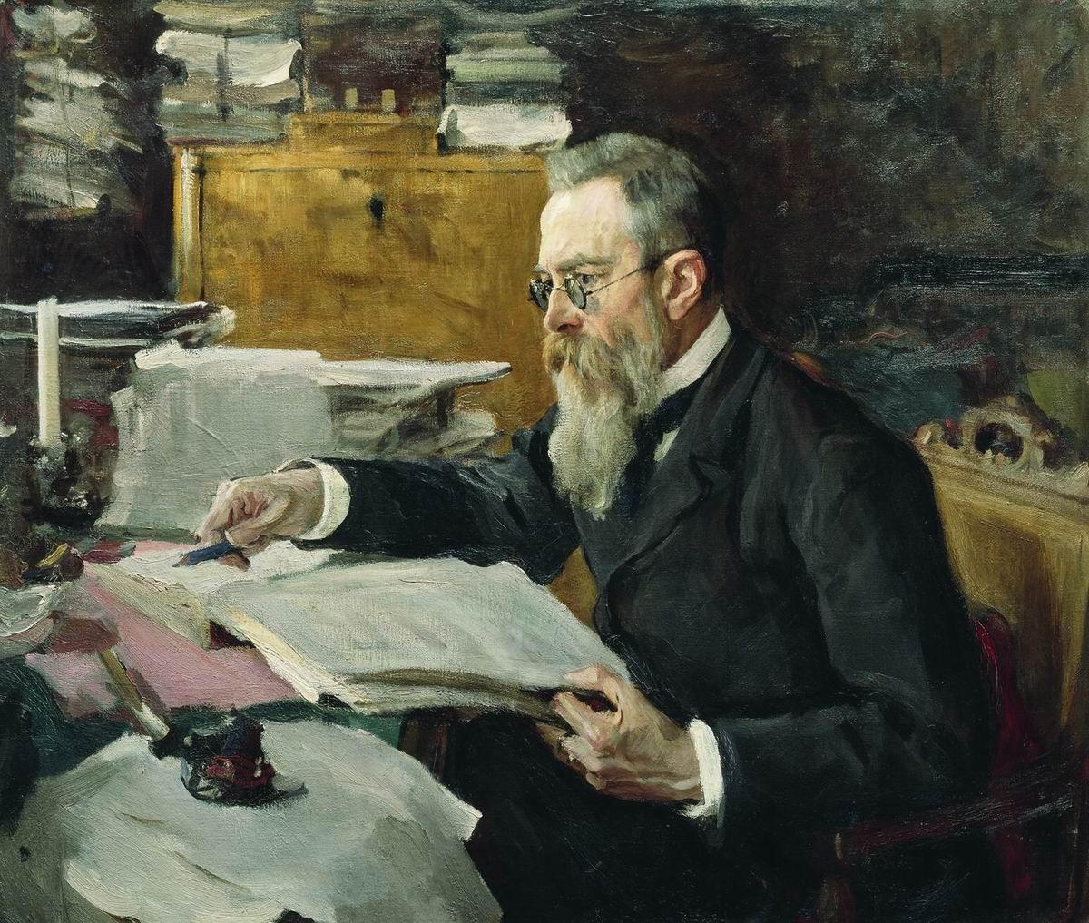 Серов В.. Портрет композитора Н.А.Римского-Корсакова. 1898