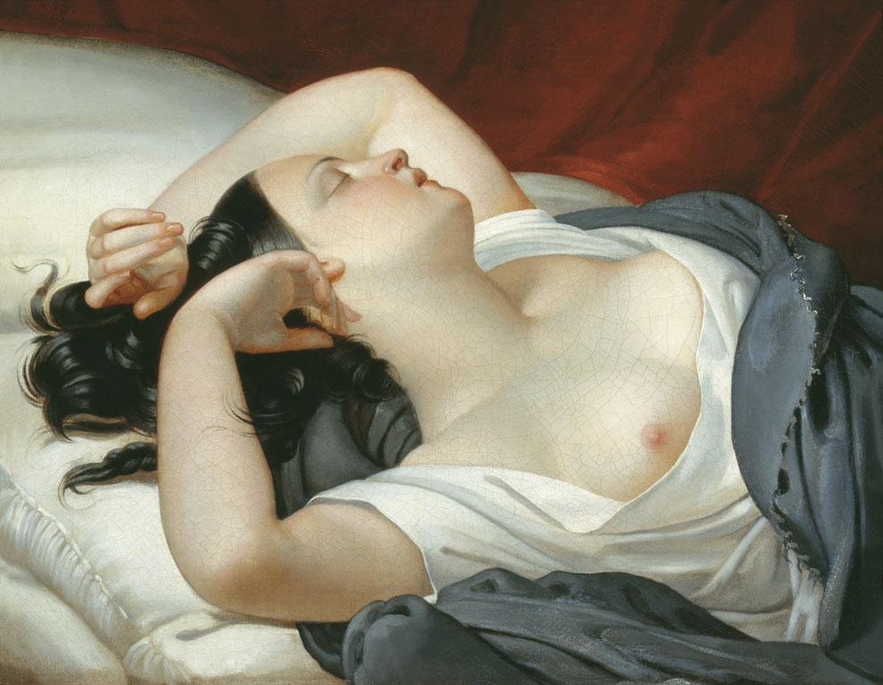 Плюшар. Спящая итальянка. Середина 1840-х