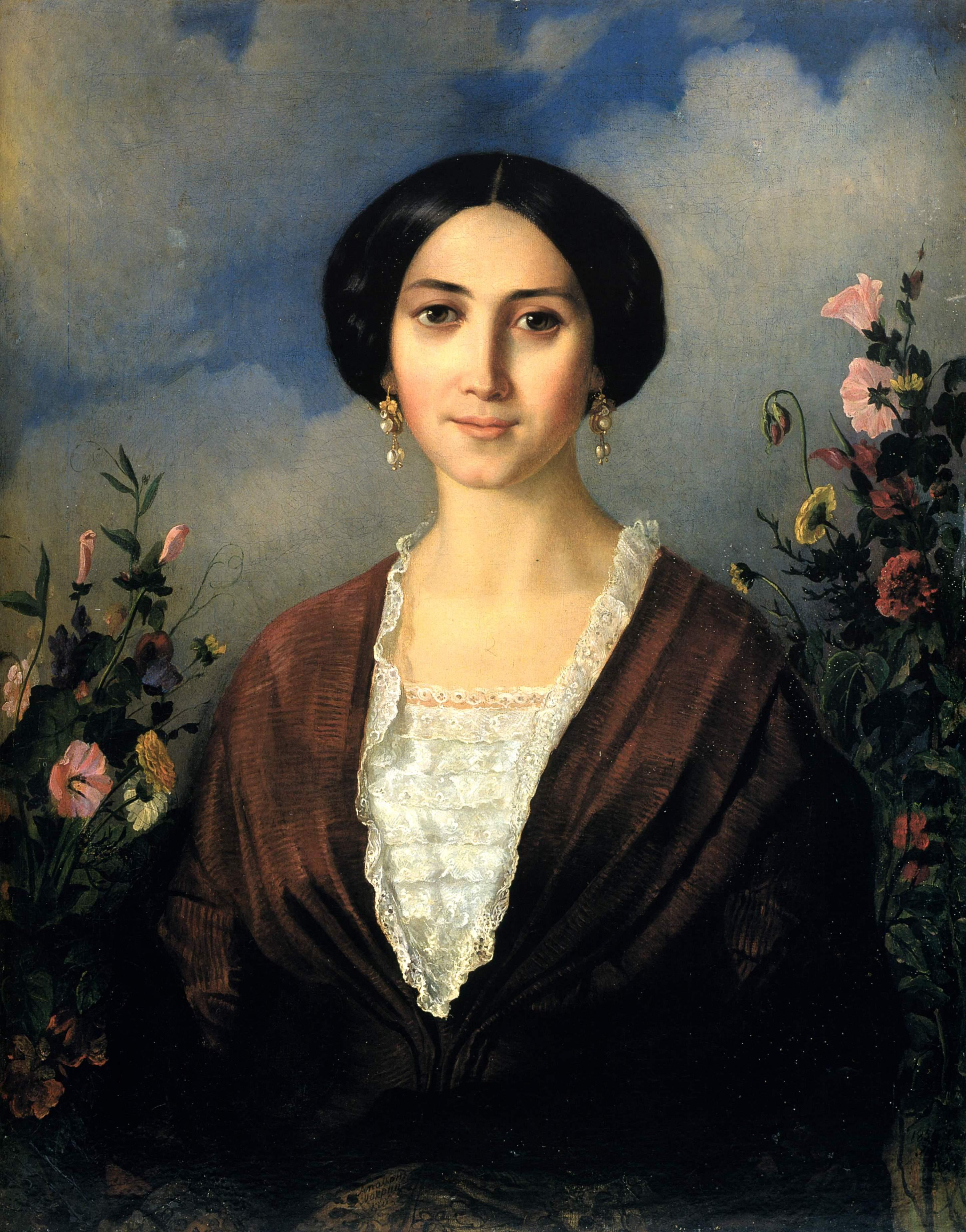 Мокрицкий. Портрет Марии Александровны Мокрицкой, жены художника . 1853