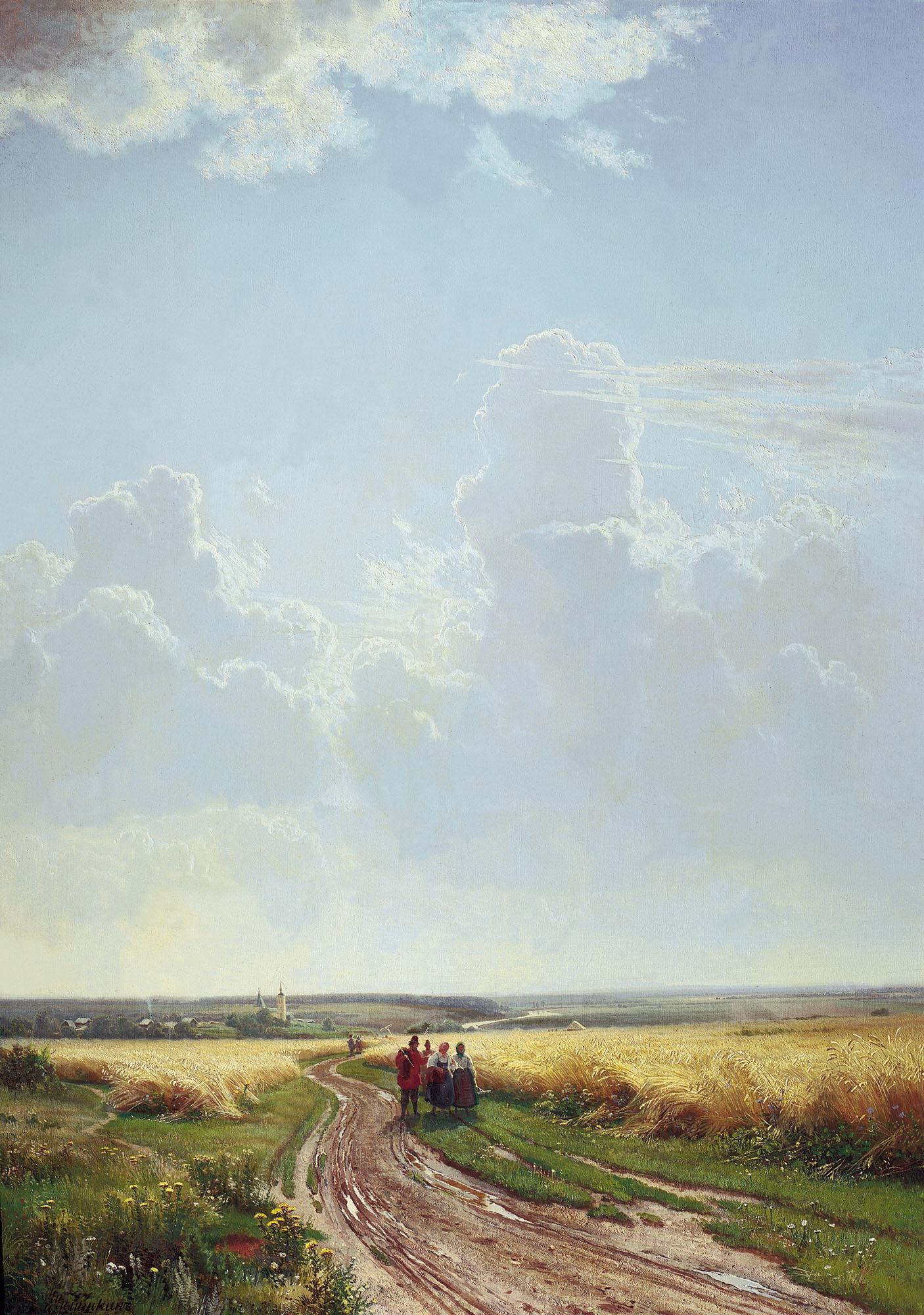Шишкин. Полдень. В окрестностях Москвы. 1869