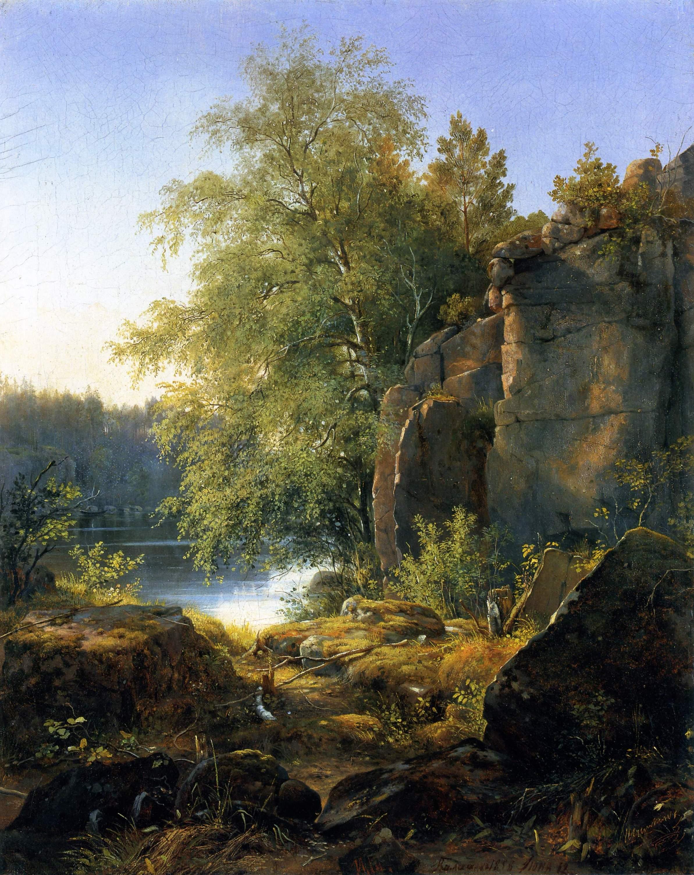 Шишкин. Вид на острове Валааме. 1858