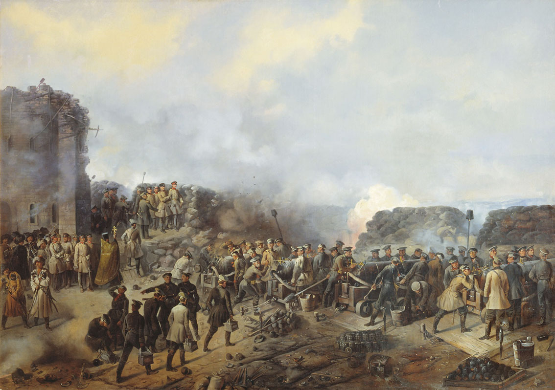 Шукаев. Бой на Малаховом кургане в Севастополе в 1855 году. 1856