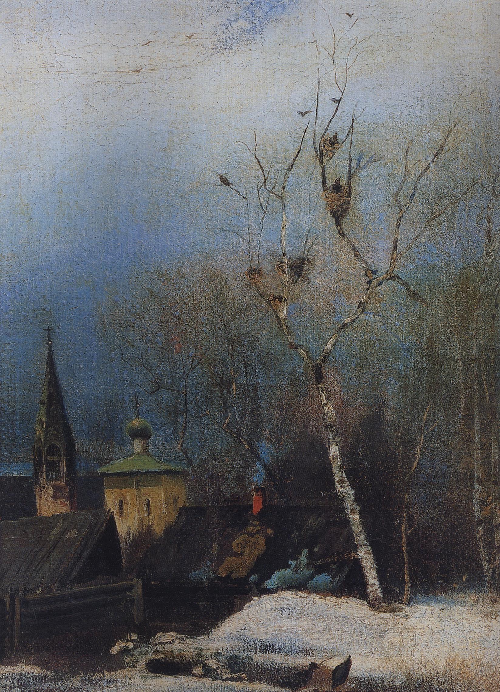 Саврасов. Ранняя весна. 1880-1890-е