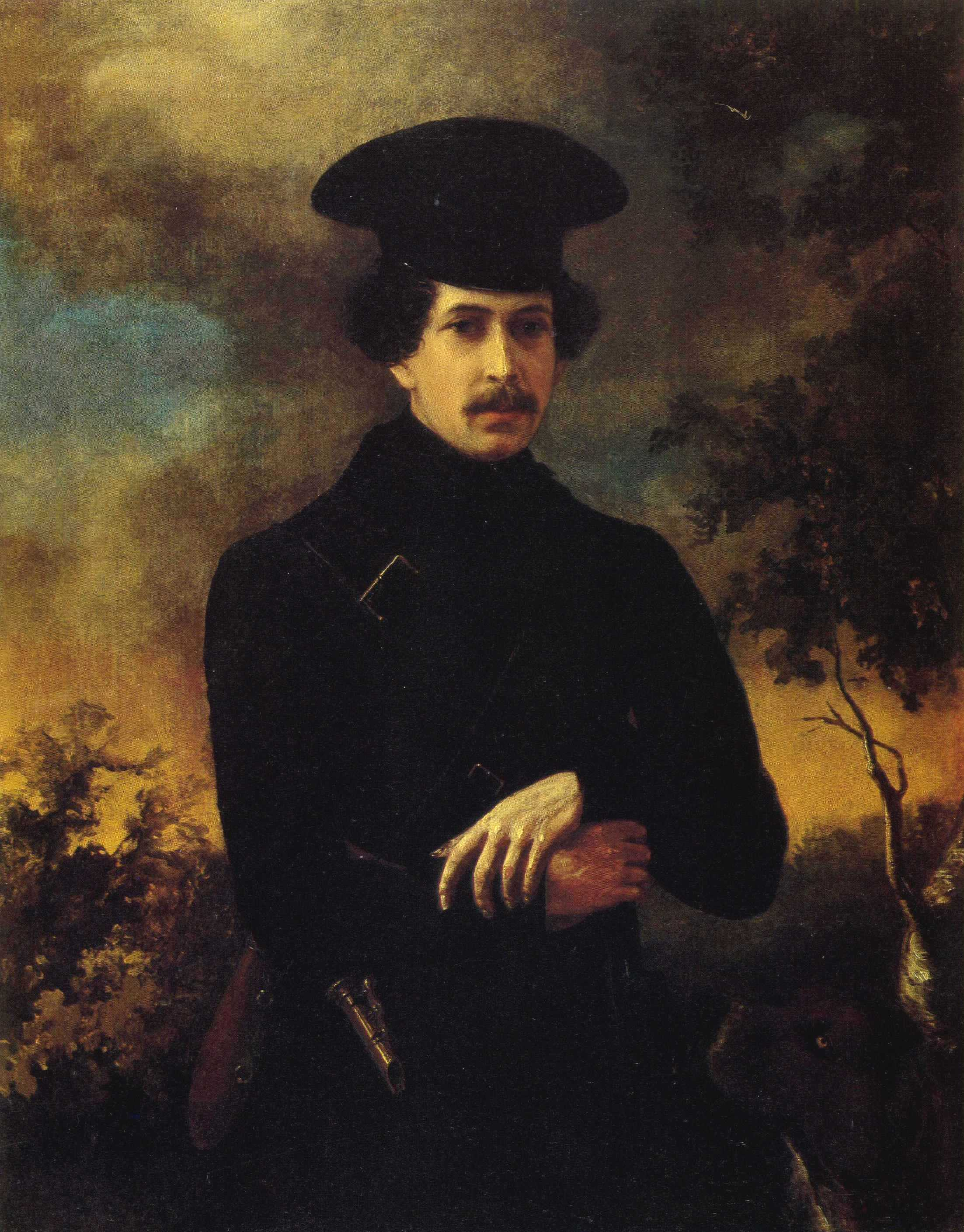 Тюрин П.. Портрет С.А.Зубова. Около 1843