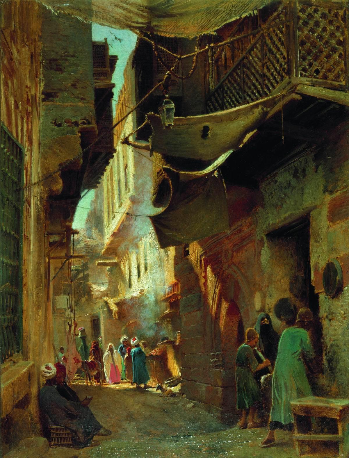 Маковский К.. Улица в Каире. 1873