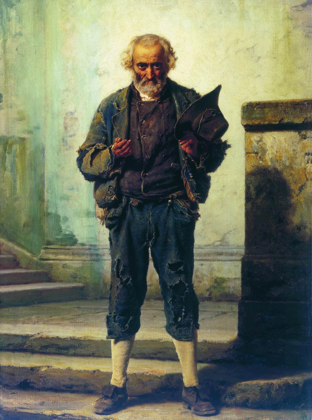 Бронников. Старик-нищий. 1869